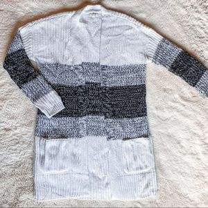 Maurice's Long Striped Chunky Knit Cardigan
